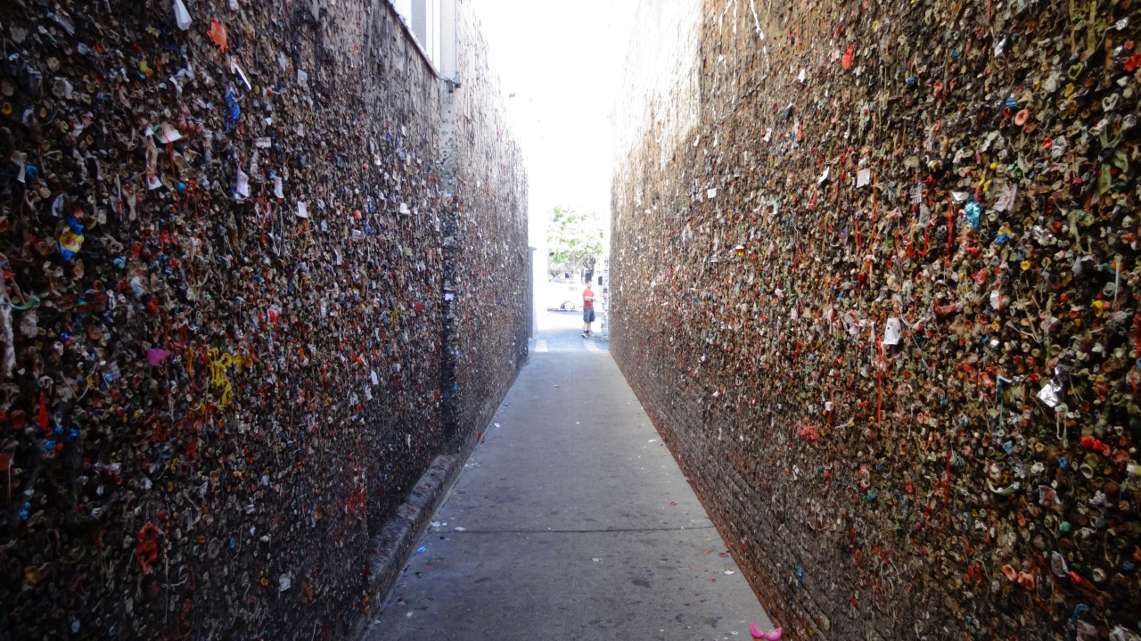 Very Famous 'Chewing Gum Wall' in San Luis Obispo
