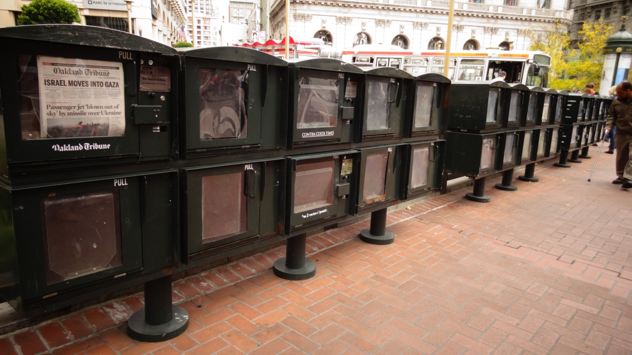 All the Different Newspaper Boxes on Market Street