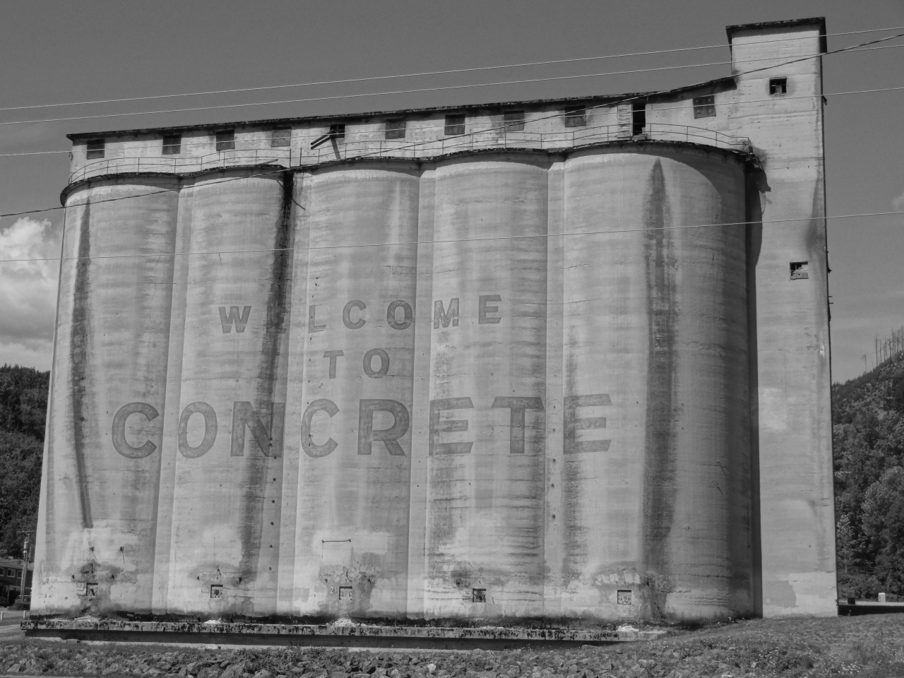 You Are Passing Through the 771-Person Village Named 'CONCRETE'... Better Not Forget It!