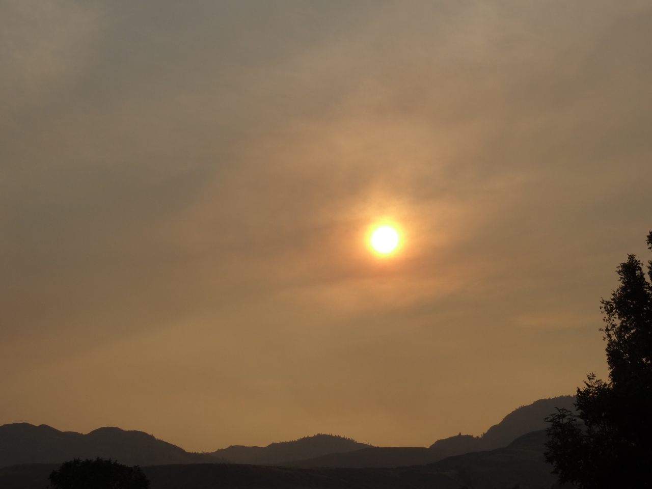 And in the Evening the Sun Was Surrounded With Red From the Ash Particles in the Sky