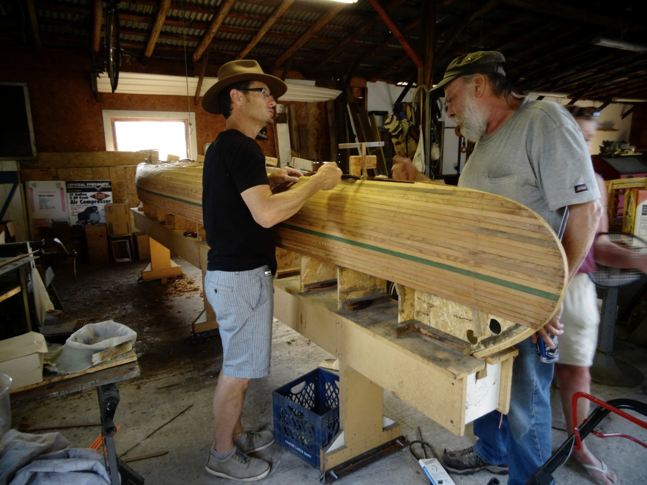 Talk to Strangers Who Make Canoes in Their Garage...