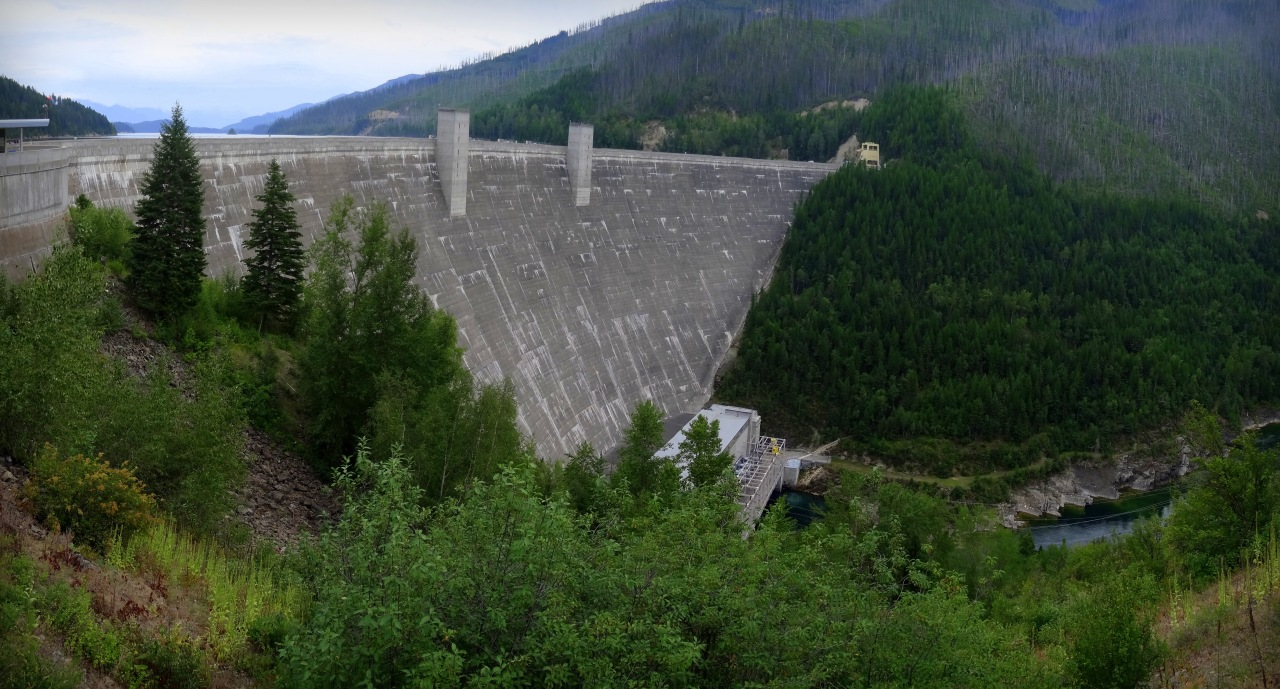 Find Huge Man-Made Dams... (This One is Hungry Horse Dam, Montana. What a Name, Right?)