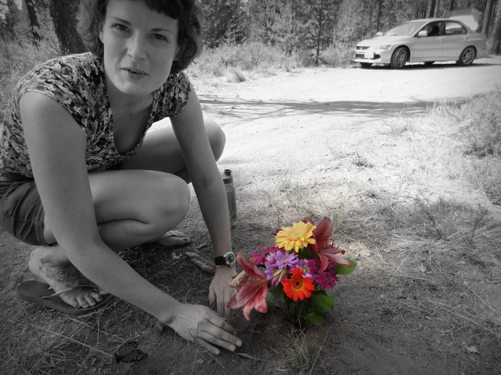 And gave the Flowers back to the Earth (And perhaps made a Passer-by smile)