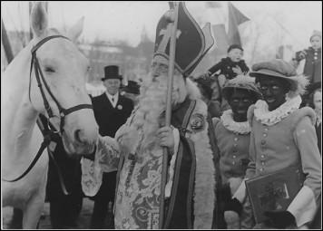 1930 Arrival of Sinterklaas in Volendam, Netherlands.