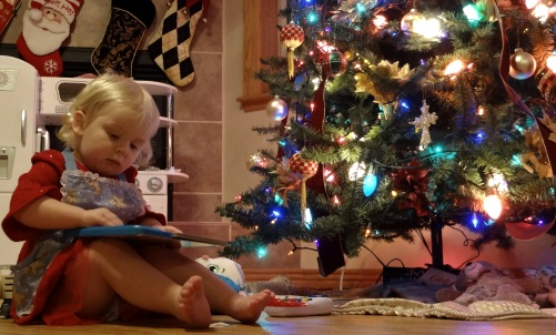 Zephyrne With Her Gift By The Tree