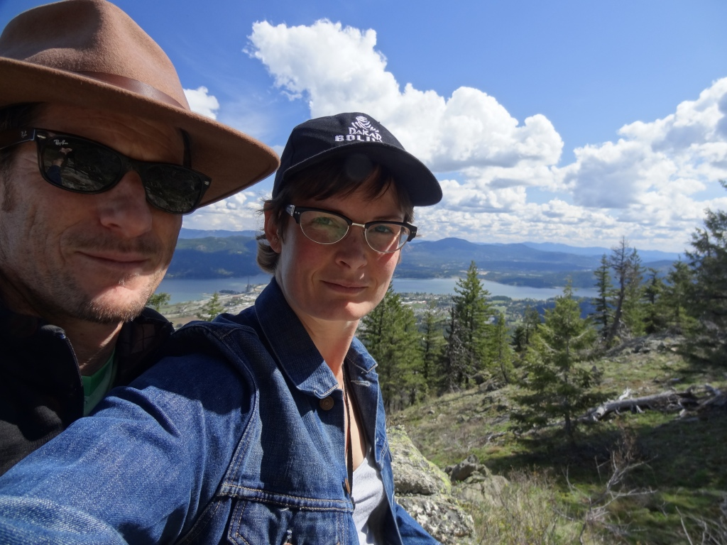 Sandpoint seen from above after hiking the 3 1/2 hour Mickinick Trail.