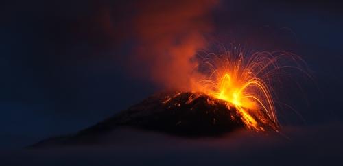 Erupting Volcano - ECUADOR