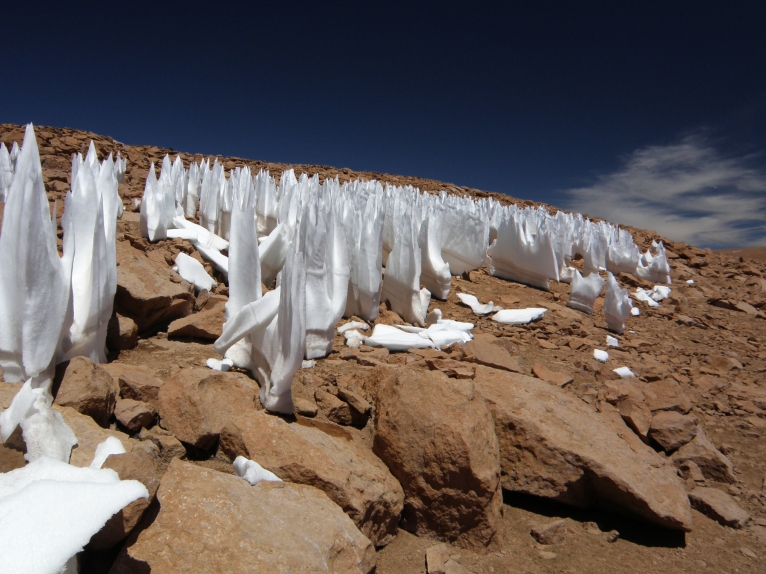 Wind-cut Icicles, P.N. Avaroa - BOLIVIA