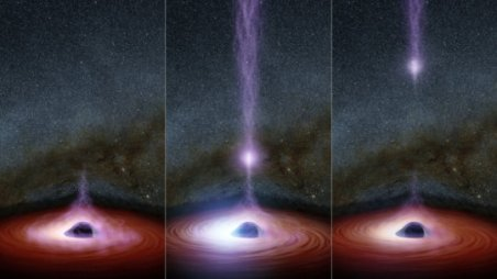 Flare emitted from a black hole (2013)