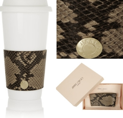 Designer leather sleeves for your takeout cup