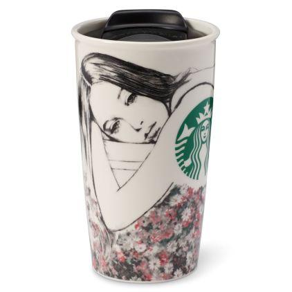 Takeout cup inspired ceramic mug