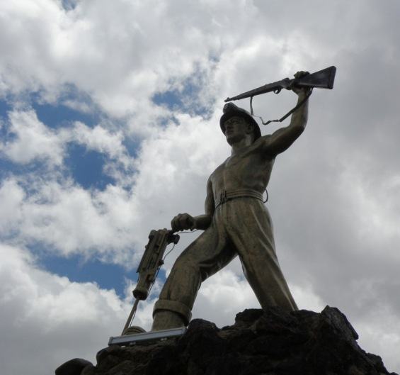 A monument celebrating one oprising of the miners