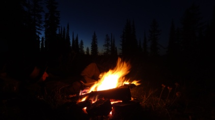 Falling asleep in the Coeur d'Alene mountains