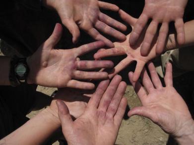 Huckleberry Blue Hands
