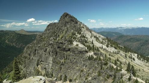 Sawtooth as seen from Middle Mountain