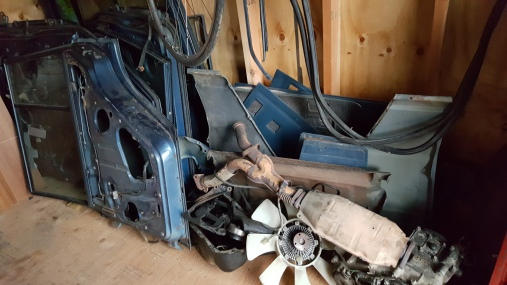 The half car in the shed